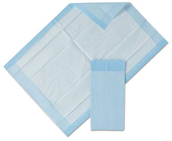 "Picture of item 970-645 a Underpads 23""x36"" Blue 25 pads/pkg  6pkg/cs"