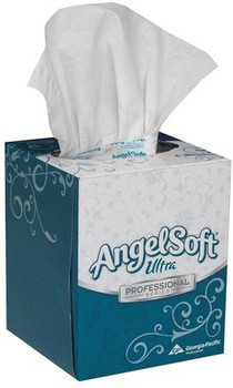 Angel Soft Ultra Professional Series™ Premium Facial Tissue. 7.6 X 8.5 in. White. 36 boxes.