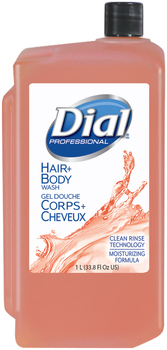 Picture of item 670-218 a Dial® Professional Body & Hair Care,  Peach, 1 L Refill Cartridge, 8/Carton