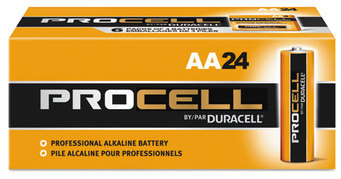 Picture of item 968-456 a Duracell® Procell Alkaline Batteries, AA, 144/Carton