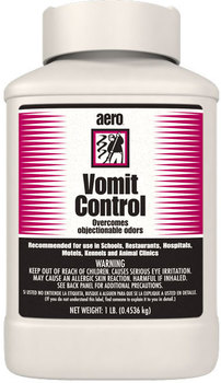 Picture of item 970-145 a Vomit Control.  Dry granular absorbent and deodorant.  1 lb container