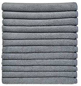 Picture of item 965-486 a MICROFIBER GREY 12X12 CLOTHS