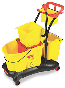 Picture of item 968-992 a Rubbermaid® Commercial WaveBrake® Mopping Trolley Side Press, Yellow, 35 Quart