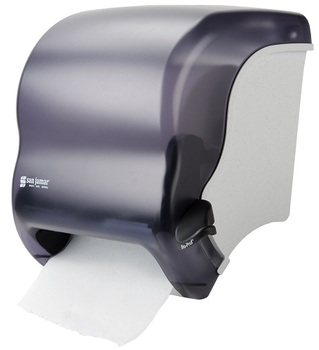 Picture of item 963-015 a San Jamar Element™ Lever Roll Towel Dispenser. 12 3/4 X 12 1/2 X 8 /2 in. Black Pearl color.