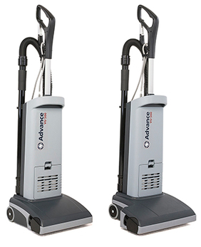 Picture of item 963-001 a Advance VU500 15 inch Upright Vacuum. 13.25 X 15.25 X 46.5 in.
