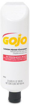 Picture of item 670-812 a GOJO® Lemon Hand Cleaner. 22 fl oz Self Dispensing Tube. 12 Tubes/Case.