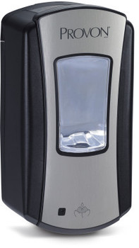 Picture of item 672-225 a PROVON® LTX-12™ Touch-Free Dispenser.  Chrome Color.  Uses 1,200 mL LTX™ Refills.