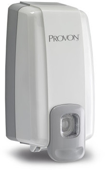 Picture of item 970-423 a PROVON® NXT® SPACE SAVER™ Dispenser - Dove Gray.  Uses 1,000 mL NXT Refills.  6/Case.