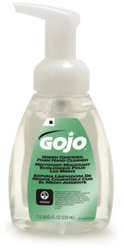Picture of item 670-784 a GOJO® Green Certified Foam Hand Cleaner.  7.5 fl oz Foamer Bottle w/ Pump.