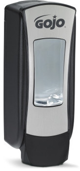 Picture of item 672-234 a GOJO® ADX-12™ Push-Style Dispenser for GOJO® Foam Soap. 1250 mL. 3.97 X 11.86 X 4.64 in. Chrome.