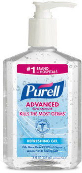 Picture of item 670-105 a PURELL® Instant Hand Sanitizer.  8 fl oz Pump Bottle.
