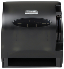 Picture of item 964-581 a LEV-R-MATIC* Roll Towel Dispenser. 13.3 X 10 X 13.5 in. Smoke color.
