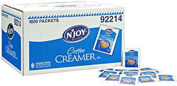 Picture of item 192-300 a Non-Dairy Creamer. 2.5 Gram Portion Packet. 1000 Packets/Case