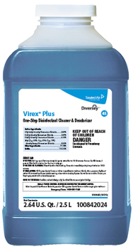 Picture of item DVO-100842024 a VIREX® Plus One-Step Disinfectant Cleaner & Deodorant. 2.5 Liter J-Fill, 2/Case.