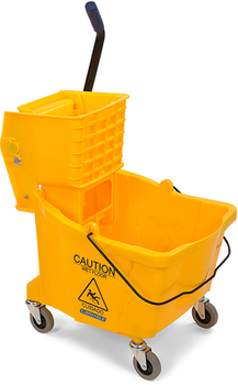 Picture of item 963-094 a Flo-Pac® Mop Bucket with Side Press Wringer. 20.5 X 16.5 X 16.5 in. 35 qt. Yellow.