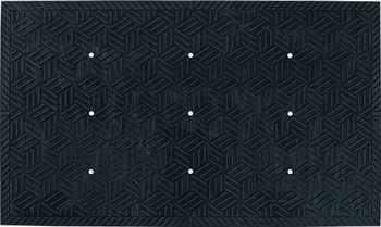 Picture of item 963-089 a Superscrape Plus Entrance/Scraper Indoor/Outdoor Floor Mat with Holes. 4 X 6 ft. Black.