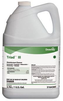 Picture of item 972-923 a Diversey Triad™ III Disinfectant Cleaner. 1 gallon bottle, 4/cs.