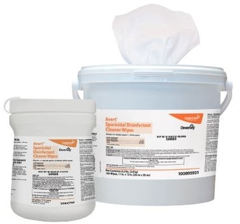 Avert™ Sporicidal Disinfectant Cleaner Wipes. 6 X 7 in. 12 canisters.