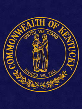 "Picture of item 963-125 a Classic Impressions Wiper/Indoor Floor Mat with Custom ""Commonwealth of Kentucky"" Design. 6X8 ft."