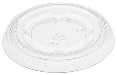 Picture of item 106-620 a Portion Cup Lids. 1.5-2.5 oz. Clear. 2500 count.