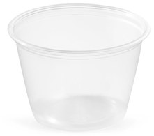 Picture of item 106-622 a Soufflé Portion Cups. 2.5 oz. Clear. 2500 count.
