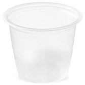 Picture of item 106-612 a Soufflé Portion Cups. 1 oz. Clear. 2500 count.  Use 106-601 lids.