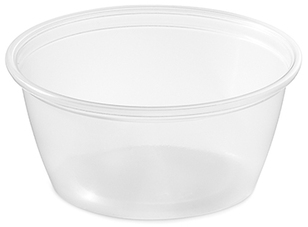 Picture of item 106-613 a Soufflé Portion Cups. 3.25 oz. Clear. 2500 count. Use Lid: ASL4/5 Number: 106-604