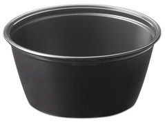 Picture of item 106-624 a Soufflé Portion Cups. 3.25 oz. Black. 2500 count.