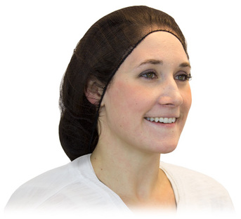"Picture of item 595-208 a Brown Heavyweight Polyester Hairnet.  21"".  100 Hairnets/Bag."