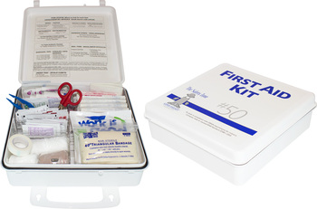 Picture of item STZ-K1030 a 50 Person Plastic First Aid Kit with Wall Mountable Handle