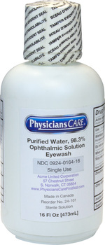 Picture of item STZ-K1130 a Sterile Isotonic Buffered Eyewash Solution. 16 oz. 12 per case.