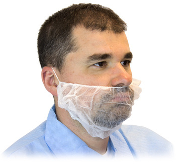 Picture of item 965-122 a BEARD COVER POLY WHITE 1000/CS.