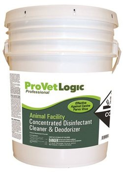 ANIMAL FACILITY DISINFECTANT 5G. EZ POUR PAIL CONCENTRATED DISINFECTANT CLEANER AND DEODORIZER.