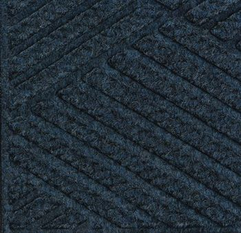 Picture of item 963-221 a Waterhog Eco Grand Premier Entrance-Scraper/Wiper-Indoor/Outdoor Mat with One End Rounded. 6 X 19.3 ft. Indigo.