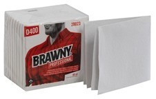 Picture of item 871-136 a Brawny Professional™ D400 Disposable Cleaning Towel 1/4-Fold White.