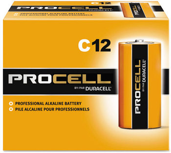 Picture of item 968-457 a Duracell Procell Alkaline Batteries, C, 72/case