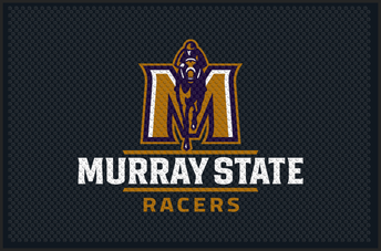 "Picture of item 963-224 a Superscrape Impressions Entrance-Scraper Indoor/Outdoor Floor Mat with Custom ""Murray State Racers"" Design. 4X6 ft."