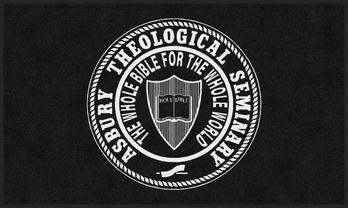 "Picture of item 963-232 a Classic Impressions Wiper/Indoor Floor Mat with Custom ""Asbury Seminary"" Logo. 3X5 ft."