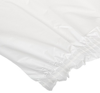 Picture of item 967-023 a Plastic Table Skirt. 29 in. X 14 ft. White. 6 count.