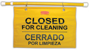 "Picture of item 963-238 a Rubbermaid ""Closed for Cleaning"" Multilingual Hanging Safety Sign."