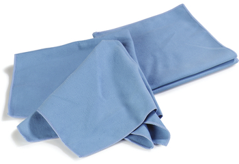 Picture of item 963-244 a Flo-Pac® Microfiber Fine Polishing Cloth. 16 X 16 in. Blue.