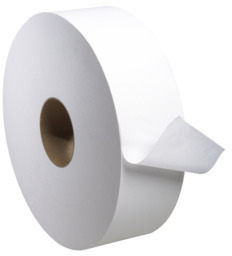Picture of item 887-614 a Tork Universal 2-Ply Jumbo Bath Tissue Roll. 2000 ft X 3.6 in X 11.8 in. White. 6 count.