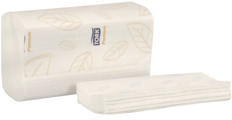 Picture of item 869-507 a Tork Xpress Premium 2-Ply 3-Panel Multifold Towel. White. 2160 count.