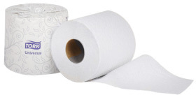 Picture of item 887-625 a Tork Universal 1-Ply Bath Tissue. 4 in X 410.67 ft. White. 48 rolls.