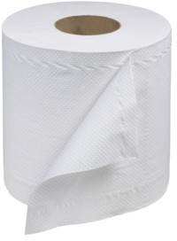 Picture of item 874-505 a Tork 2-Ply Universal Centerfeed Hand Towels. 7.6 in X 519 ft. White. 6 count.