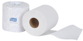 Picture of item 887-630 a Tork Advanced Soft 2-Ply Bath Tissue Rolls. 4 in X 171.88 ft. White. 80 count. 550 Sheets.